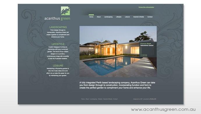Acanthus Green website Design  JAZ Visual Communication  1300 852 102