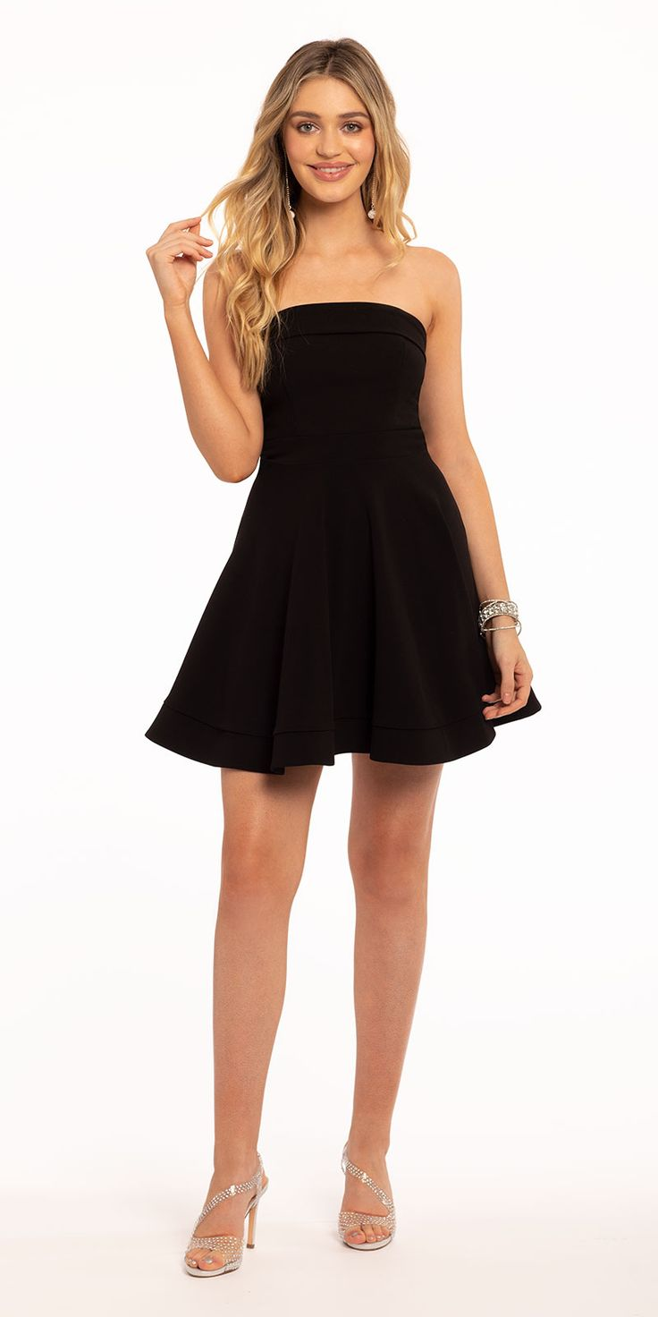 Be the best dressed babe in this strapless short cocktail