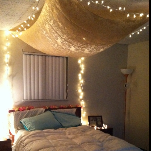and fairy lights home pinterest beds lights and love this