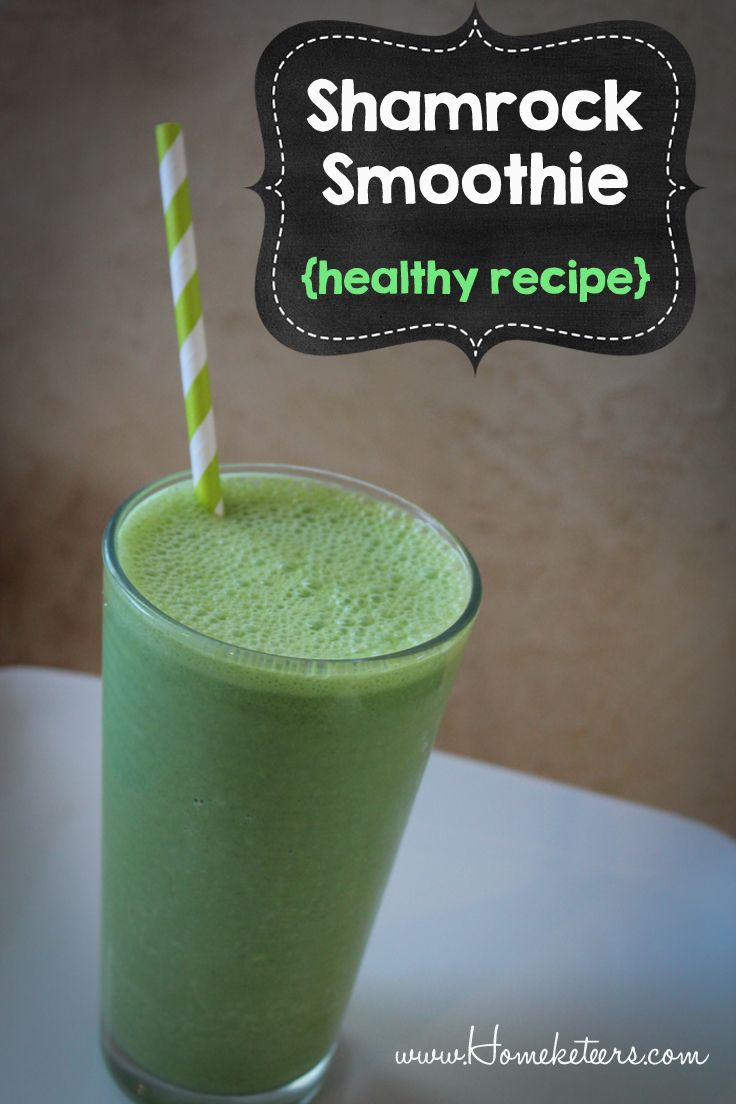 Shamrock Smoothie (Healthy Recipe) St Patrick's Day ...