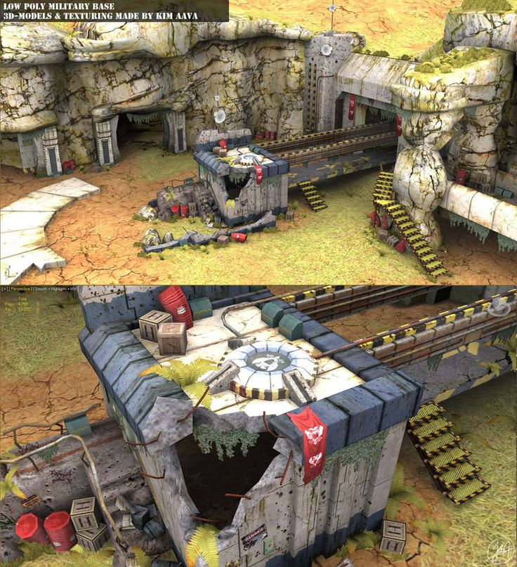 Low poly Abonded military base by ~Mad-Owl on deviantART
