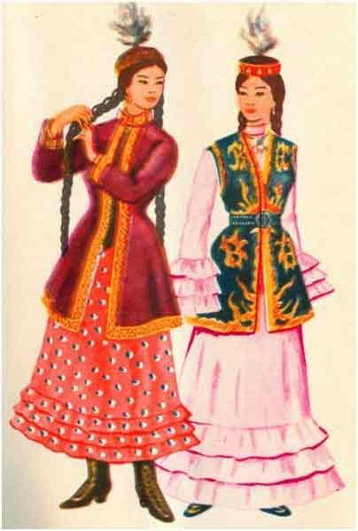 Казахский национаьный костюм