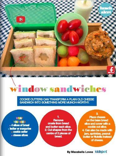 Window sandwiches.  Pg 7 of the Kidspot lunch flipbook