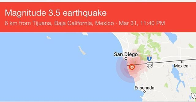 Earthquake in Tijuana &a San Diego! ☹️ #tijuana #sandiego #earthquake #california #doomsday #sandiego #sandiegoconnection #sdlocals #sandiegolocals - posted by Abiram  Romero https://www.instagram.com/mexicanabe. See more post on San Diego at http://sdconnection.com