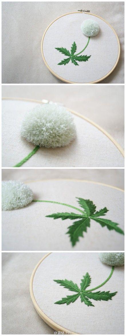 Dandelion embroidery.