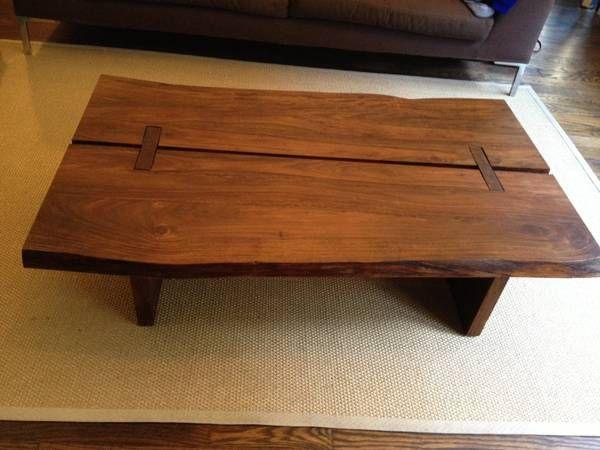 raw edge wood slab coffee table 150 chelsea. Black Bedroom Furniture Sets. Home Design Ideas