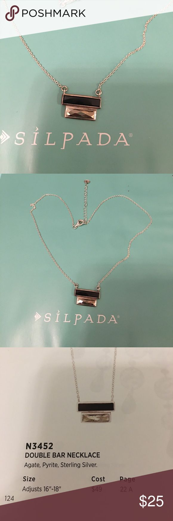 Silpada designs double bar necklace sterling Silpada designs double bar necklace sterling silver. New. Never worn. Silpada Jewelry Necklaces