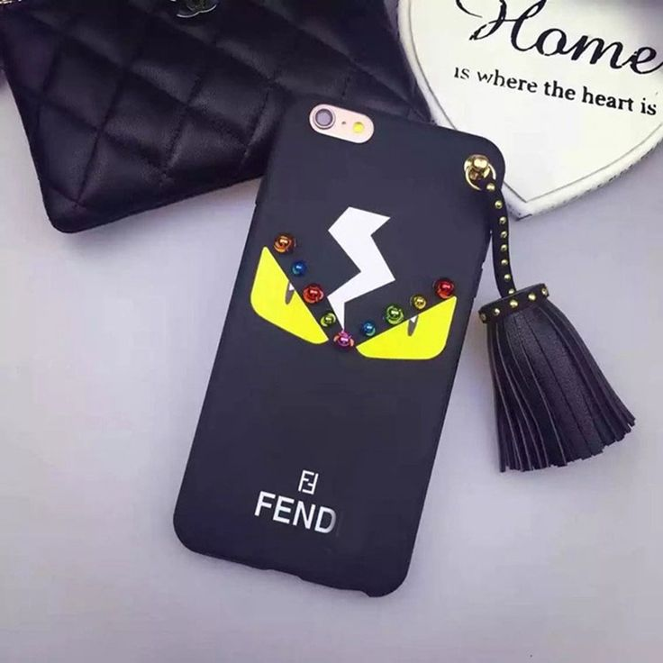 For iphone 7 7Plus Ltaly Fend Karlitos Lafayett monsters Rivet Tassel Soft Silicon Case For iPhone 6 6S Plus Mobile phone Cover-in Phone Bags & Cases from Phones & Telecommunications on Aliexpress.com | Alibaba Group