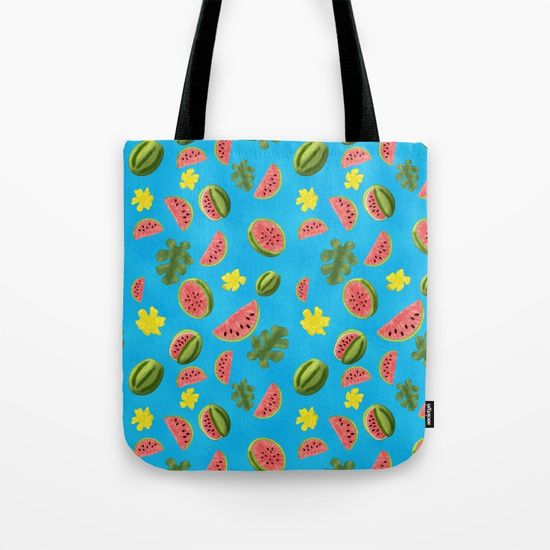 Summer Watermelon Pattern Canvas Print by Squibble