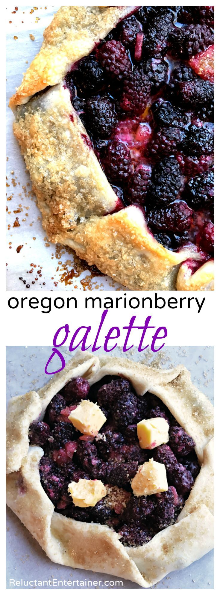 Making a galette is quick, and it doesn't have to be perfect. They're rustic, open faced, and pretty, too. If pies intimidate you, then a galette just may be for you! Oregon Marionberry Galette