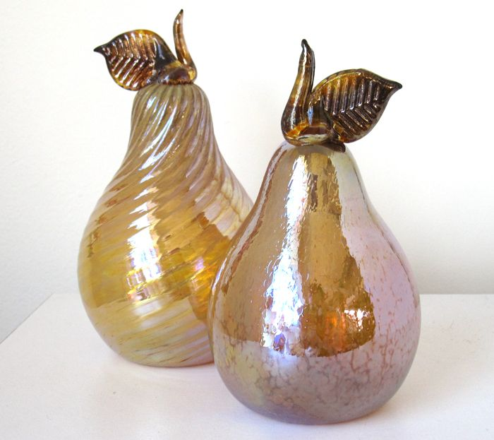 Glass pears by Darren Petersen (Red Deer, AB). Member of the Alberta Craft Council