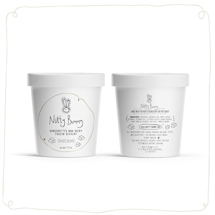 Nutty Bunny frozen yogurt, simple, plain, maybe the logo could be a bit darker so it catches your eye