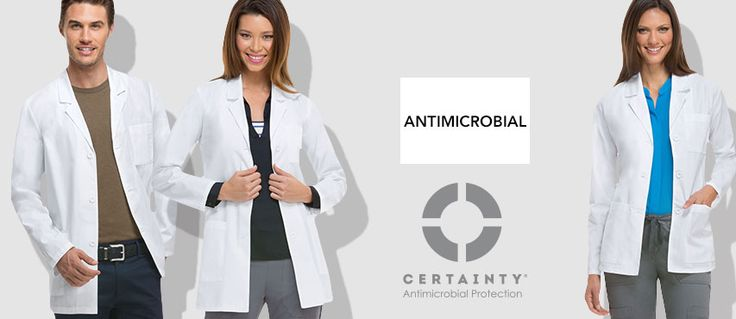 Antimicrobial Certainty Scrubs, Lab Coats and Scrub Hats