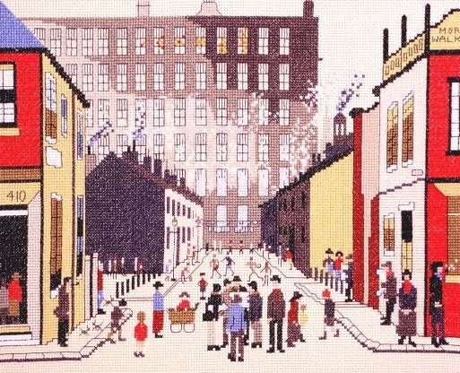 Lowry: Street Scene Cross Stitch Kit | £26.25 on Past Impressions | by Bothy Threads
