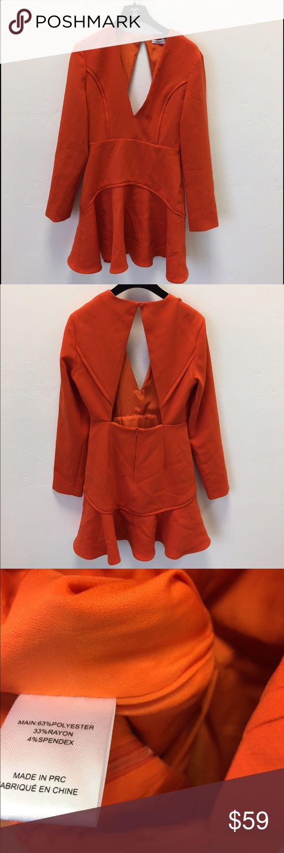 Finders Keepers Orange Ruffle Dress Size Small new Finders Keepers Orange Ruffle Dress Size Small new without tags so cute and grily Finders Keepers Dresses Mini
