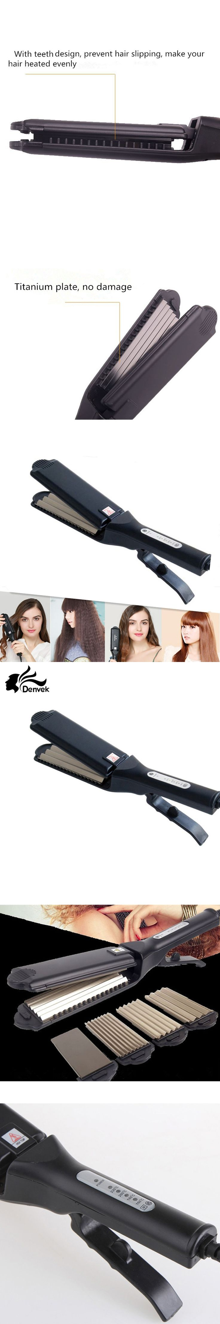 2 in 1 Corn Hair Straightening&curler iron  titanium ironFlat Iron Intelligent Hair Curler Straightener Styling Beauty Hair Tool