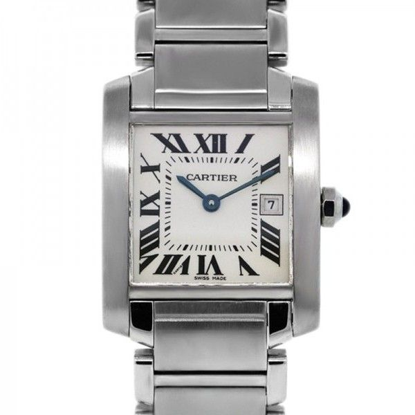 Pre-owned Cartier Tank Francaise 2465 Stainless Steel Unisex Watch ($3,295) ❤ liked on Polyvore featuring jewelry, watches, stainless steel wrist watch, stainless steel jewelry, preowned watches, stainless steel jewellery and cartier watches
