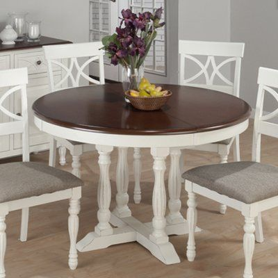 Jofran 693 48 chesterfield tavern round to oval butterfly for Round table with butterfly leaf