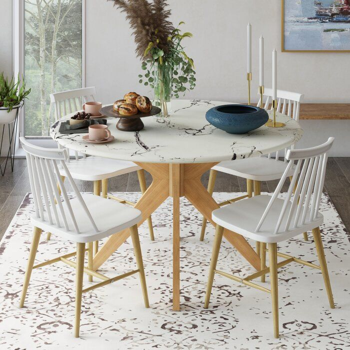 Grafton Faux Marble Dining Table Marble Dining Dining Table