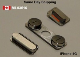 Apple iPhone 4 4G Volume mute switch Power Buttons Set  Price = $15.50