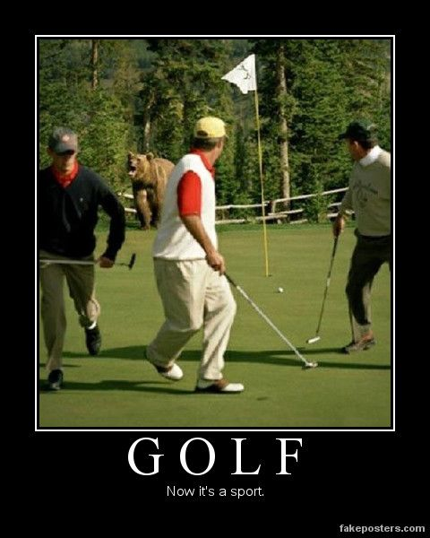 Ha! For all my golf friends...