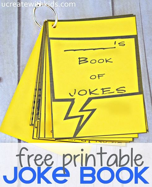 Free Printable Joke Book for Kids ucreatewithkids - Kids can learn to tell jokes (ask a question) as part of a talent show