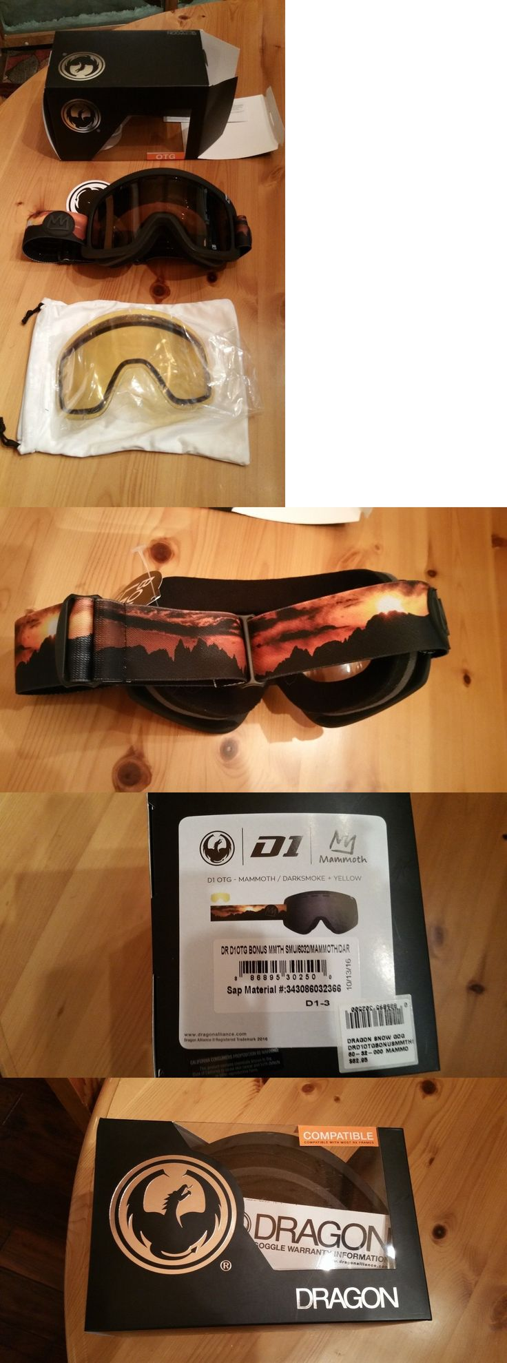 Goggles and Sunglasses 21230: New Dragon Mammoth Mountain Mens Ski Snowboard Goggles, 2 Lenses, New In Box -> BUY IT NOW ONLY: $36.99 on eBay!