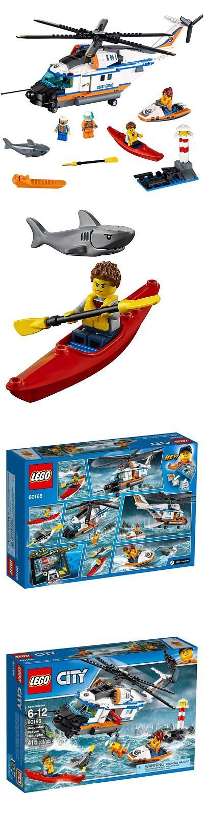 Blocks and Sorters 100225: Lego City Coast Guard Heavy-Duty Rescue Helicopter 60166 Building Kit (415 -> BUY IT NOW ONLY: $79.99 on eBay!