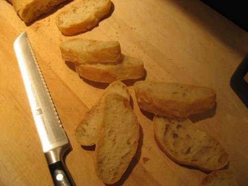 One more fun attempt at Julia's French Baguette from three ladies on this blog. I enjoyed the narrative, and think I've got what I need to attempt this with my kitchenaid + dough hook!