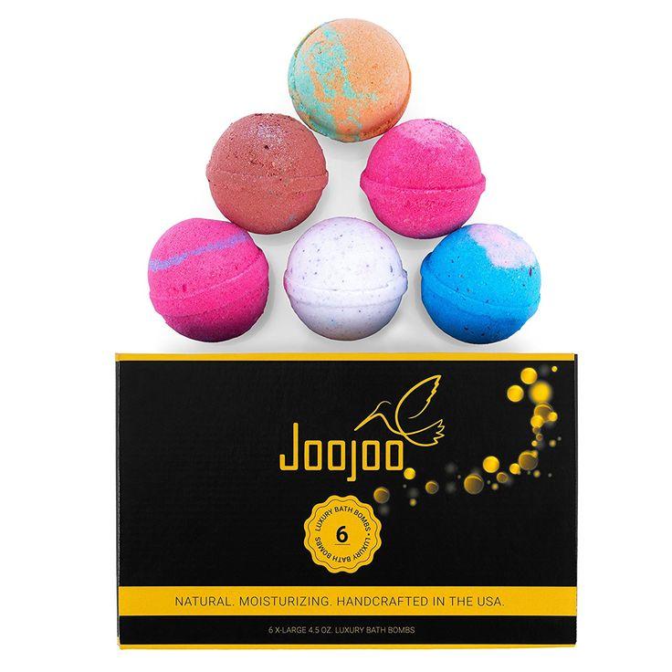 Joojoo Bath Bombs- SIX EXTRA LARGE 4.5 oz Ultra Lush Fizzy bath bombs per bath bomb kit-- Handmade in USA - Lavender, Moonlight & Roses, Cucumber Melon, Crazy Love, Petal Dance, Kiss Me: Amazon.ca: Beauty