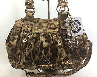 Kathy Van Zeeland Handbag Wild Thing Cross body Satchel Leopard NWT