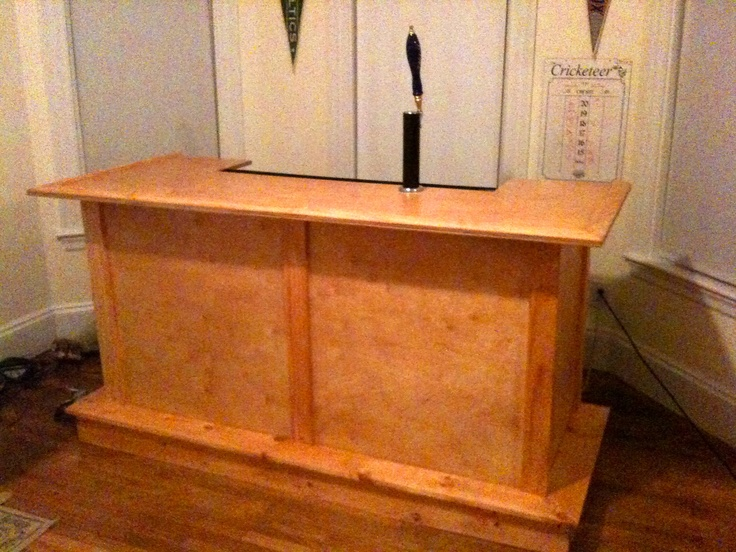 Hand Crafted Bar Built In Kegerator Hand Crafted