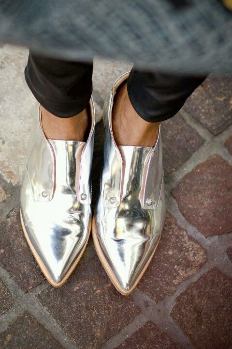 Silver Shoes #flats #fashion