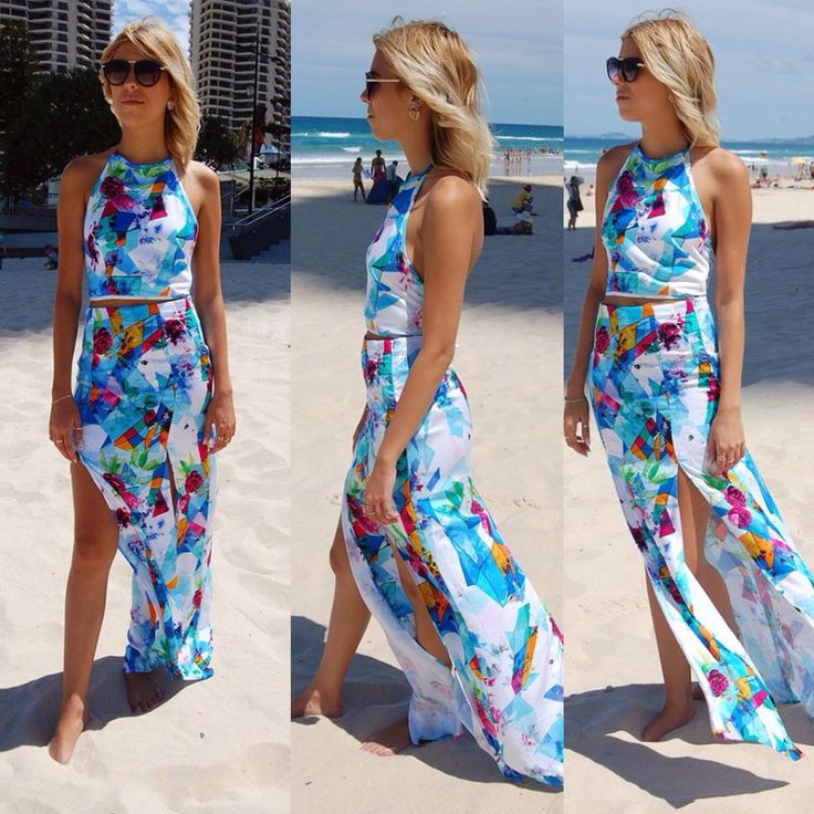 Love our skyline crop and maxi! Available in store and online