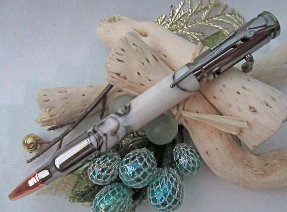 Bullet Pen with Bolt Action and Rifle Clip Rustic Woodsy gift