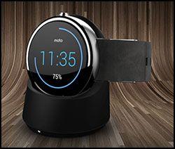 Moto 360 - snygg smart klocka från Motorola, som till skillnad mot de flesta konkurrenter inte ser ut som en pytteliten surfplatta...