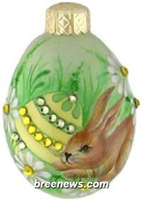 Miniature Egg, Neve, Patricia Breen (Brown, Bunnies, Eggs, Flowers, Green, Pearl/white, Yellow)
