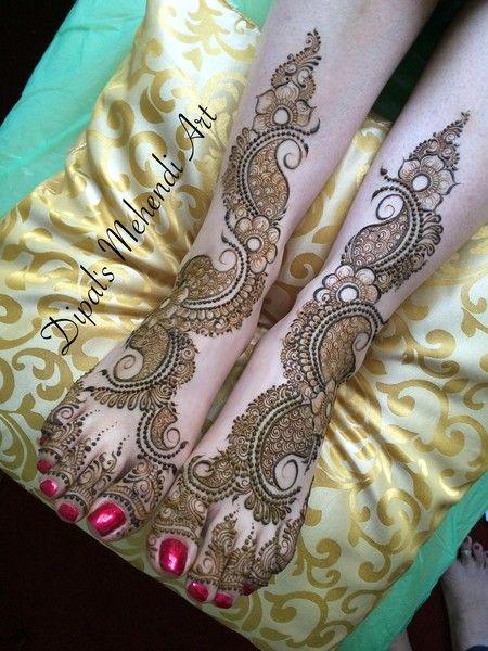 Bridal Mehndi on Feet
