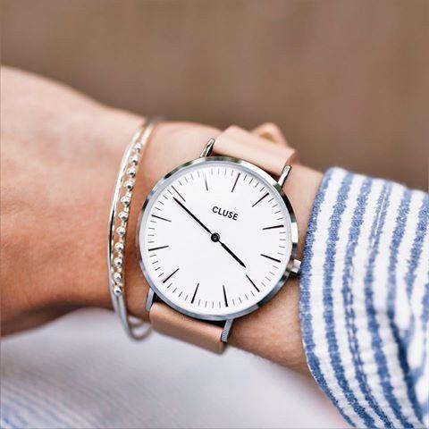 CLUSE La Bohème Silver White/Nude CL18231 #montre #femme #Cluse