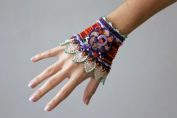Crochet gypsy cuff.
