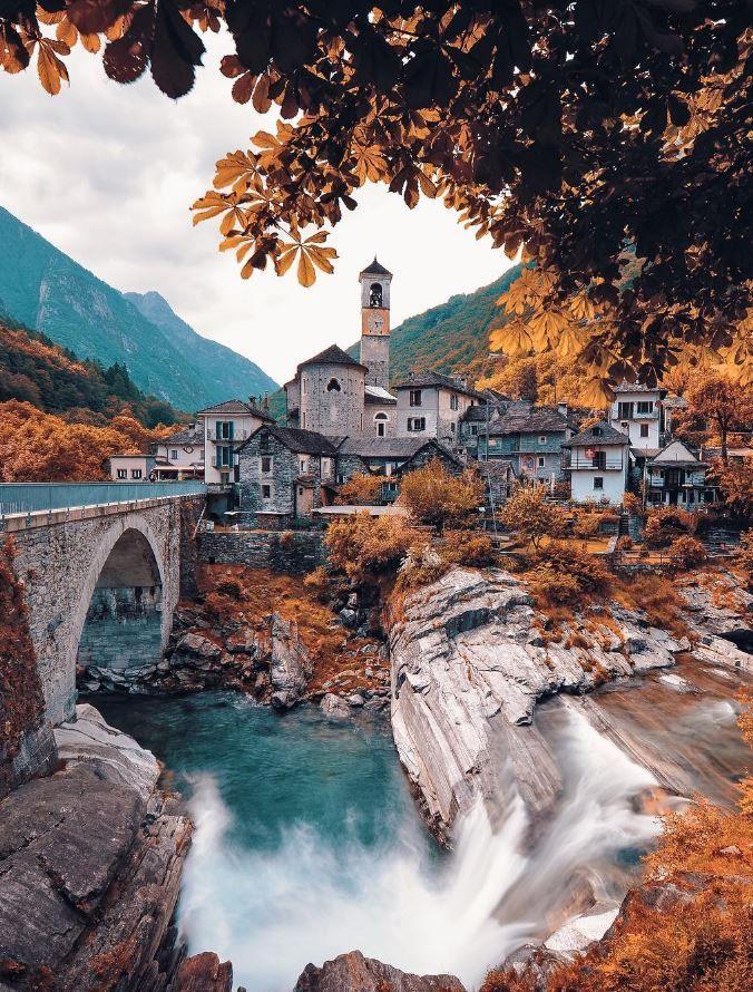 Lavertezzo Valle Verzasca, Corippo, Switzerland