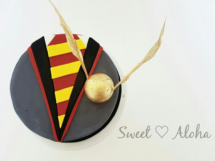 Harry Potter quidditch gokden snitch cake