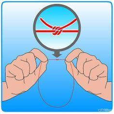 Haz un nudo con los dos extremos del hilo formando un círculo. Corta cualquier hilo extra del otro lado del nudo.