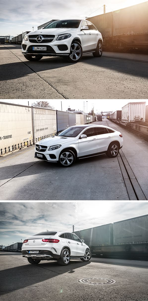 Mercedes-Benz is combining two classes of vehicle – each with its own distinct style – to make a new model, the Mercedes-Benz GLE Coupé. Photographed by Oliver Roggenbuck. #mbsocialcar [Mercedes-Benz GLE 400 4MATIC   combined fuel consumption 8.9-8.7 l/100km   combined CO2 emission 207–199 g/km   http://mb4.me/efficiency_statement]