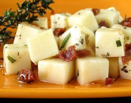Marinated Mozzarella Cubes (I'll use the pearl sized ones from Publix) and skip the rosemary and use fresh basil