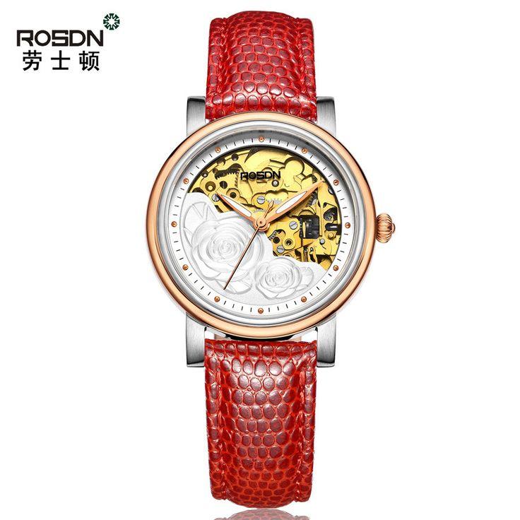 ROSDN 2016 Mechanical leather Women's Waterproof Watch