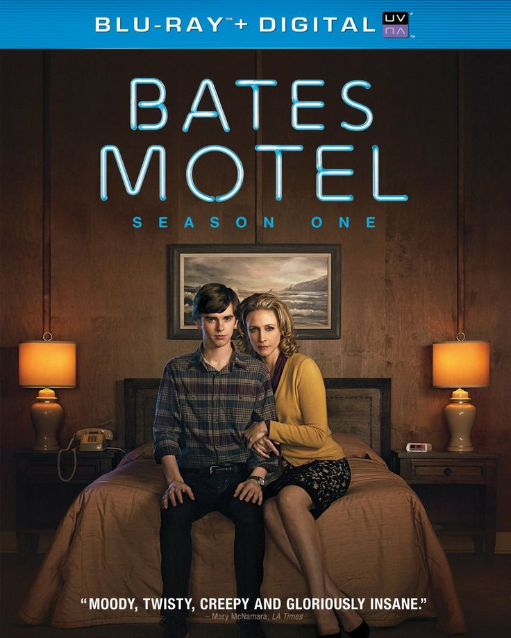 Bates Motel: Season One (2013) ($30.05) http://www.amazon.com/exec/obidos/ASIN/B00DNUSFRE/hpb2-20/ASIN/B00DNUSFRE Very good acting (both leading and supporting cast), great story. - I love this show - I really can't wait for the next episode, I also watch the same ones over and over! - Just enough creepiness to make your skin crawl without being gruesome.