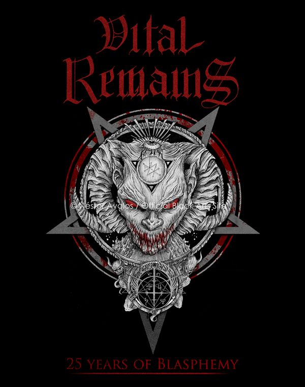 shirt design for vital remains last European tour by Nestor Avalos, via Behance