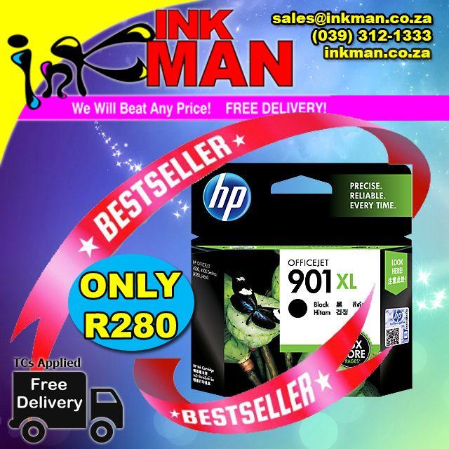 @HP_S_Africa 901XL (BLACK) #cartridge #BestPrice ONLY R280 #INKman #SouthAfrica ORDER HERE http://bit.ly/1OtU62U