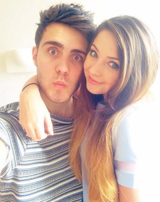 Zalfie - Zoe Sugg and her boyfriend Alfie Deyes. Both are YouTubers...